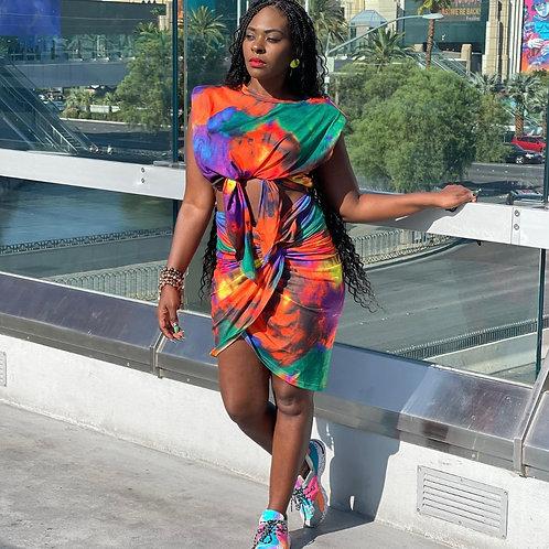 Tie Dye Muscle Skirt Set
