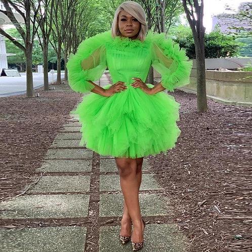 Custom Ruffle Tulle Dress