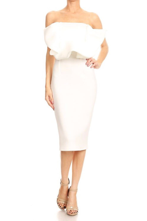 Ruffle Tube Dress