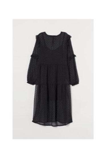 Sheer Polka Dot Lined Dress