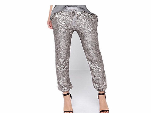 Loose Casual Drawstring Sequins Pants