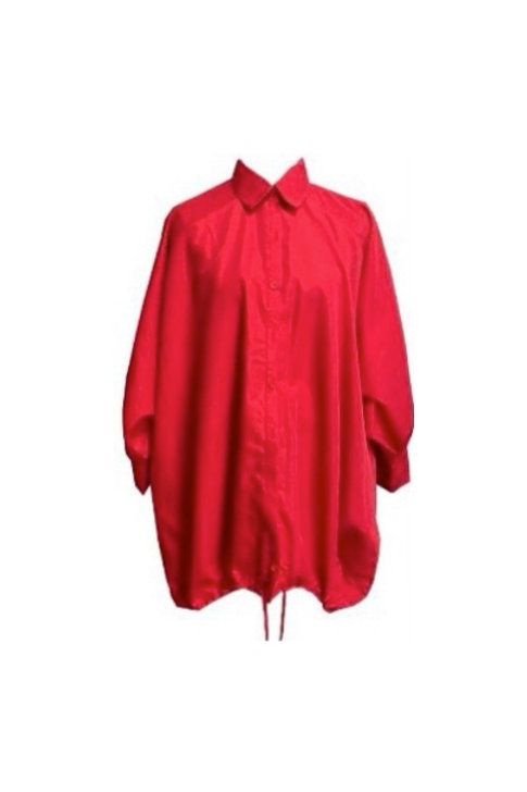 Oversized Drawstring Shirt Dress