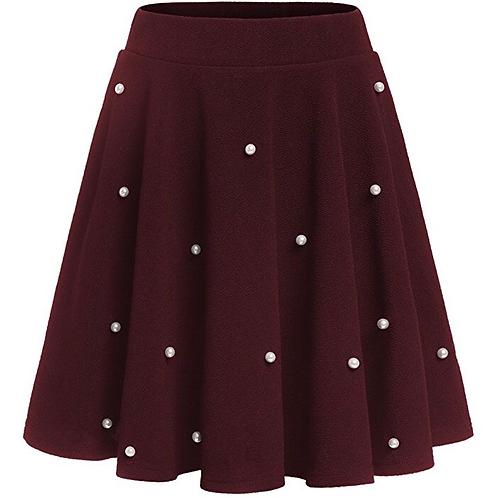 Pearl Beaded Skater Skirt
