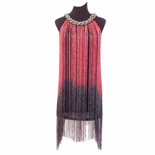 Ombré Tassel Flapper Dress