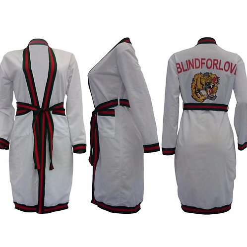 Long Sleeve Striped Tiger Cardigan