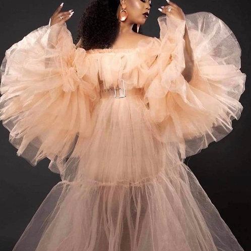 Custom Angel Sleeve Dress
