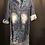 Thumbnail: Denim Distressed Shirt Dress