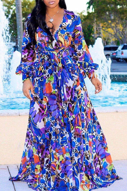 Floral Printed Chiffon Dress