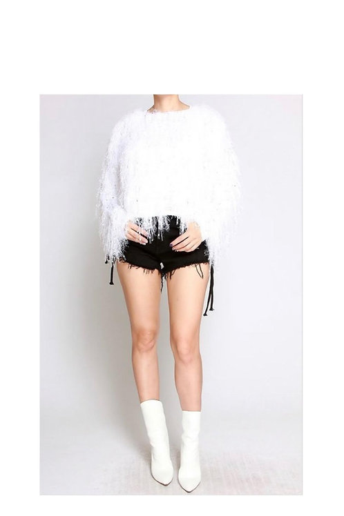 Soft Fringe Shaggy Sweater
