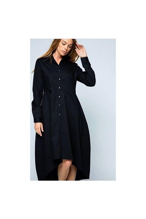 Button Down Asymmetrical Dress