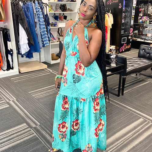 Floral Tropical maxi Dress