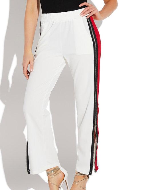 Stripe Side Zip Pants
