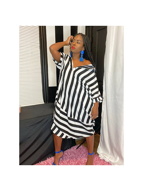 Oversized Stripe Dress