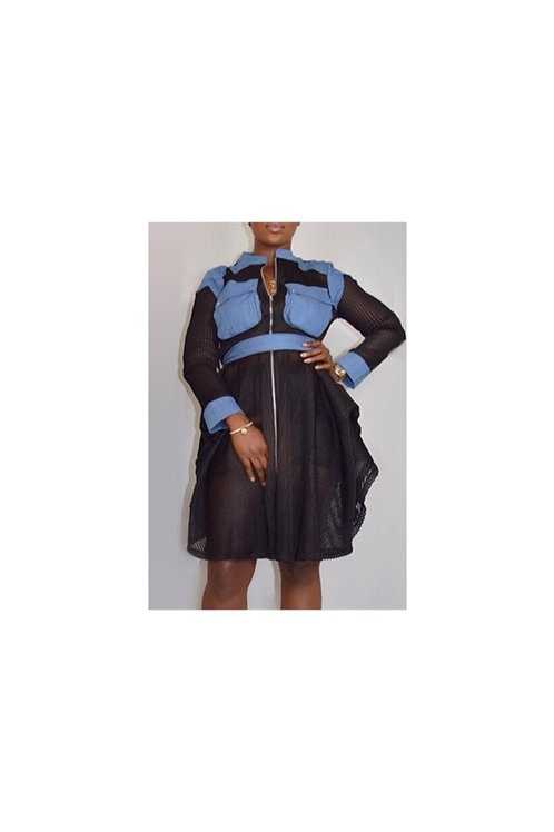 Denim Patchwork Jacket/Dress