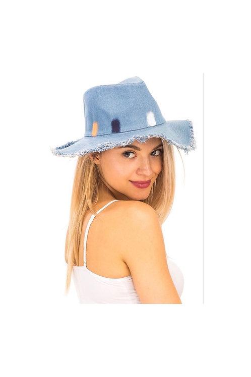 Denim  Frayed Hat