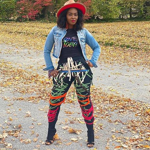 Bandage Colored Laces Pants