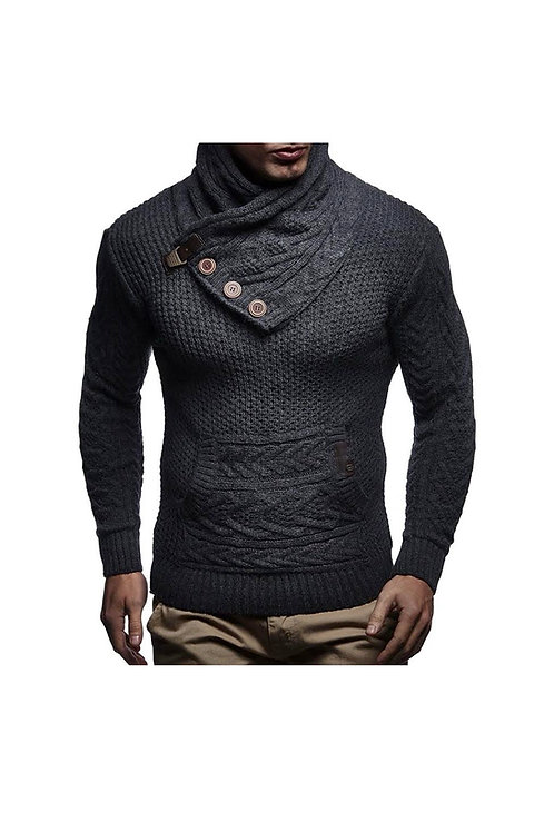 Knitted Shawl Collar Sweater