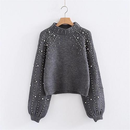 Pearl Beaded Sweater