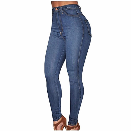High Waist Denim Skinny Jeans Stretch Comfy Pants