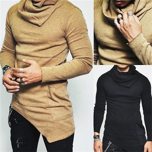 Irregular Turtleneck Shirt
