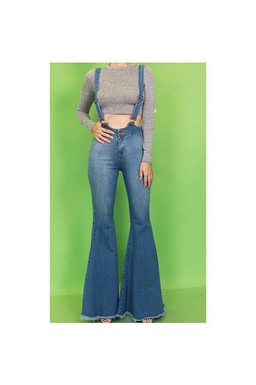 Bell Bottom Bib Jeans