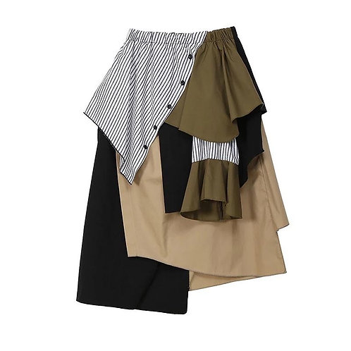 Doing A lot Asymmetrical Skirt