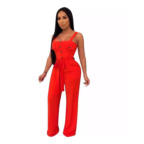 Classic Belted Jumpsuit