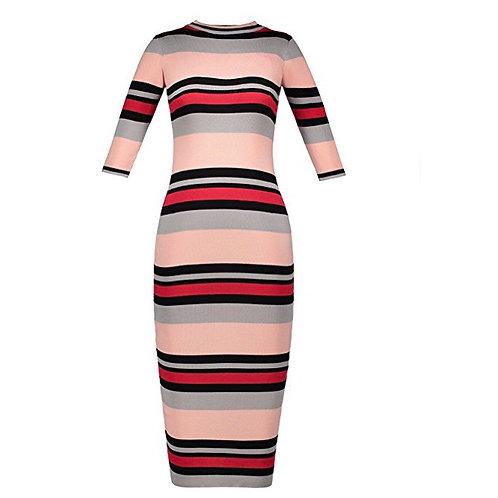 Stripe Color Block Sweater Dress