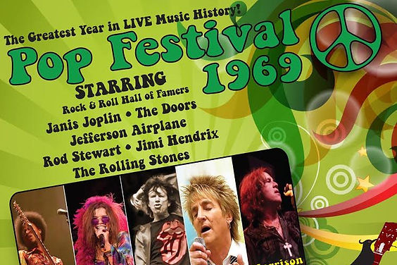 Pop Festival 1969, tribute to Jimi, Janis, The Rolling Stones, Rod Stewart and the Doors