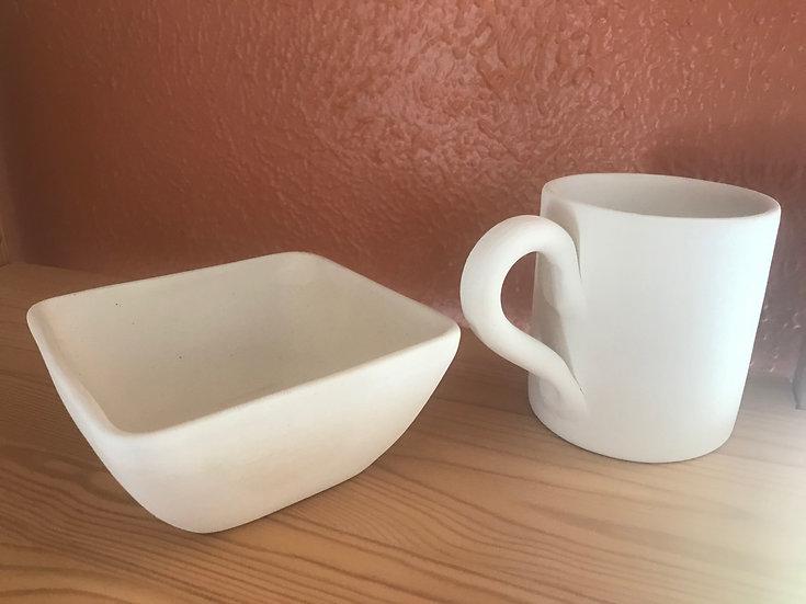 Economy $option,mug & bowl
