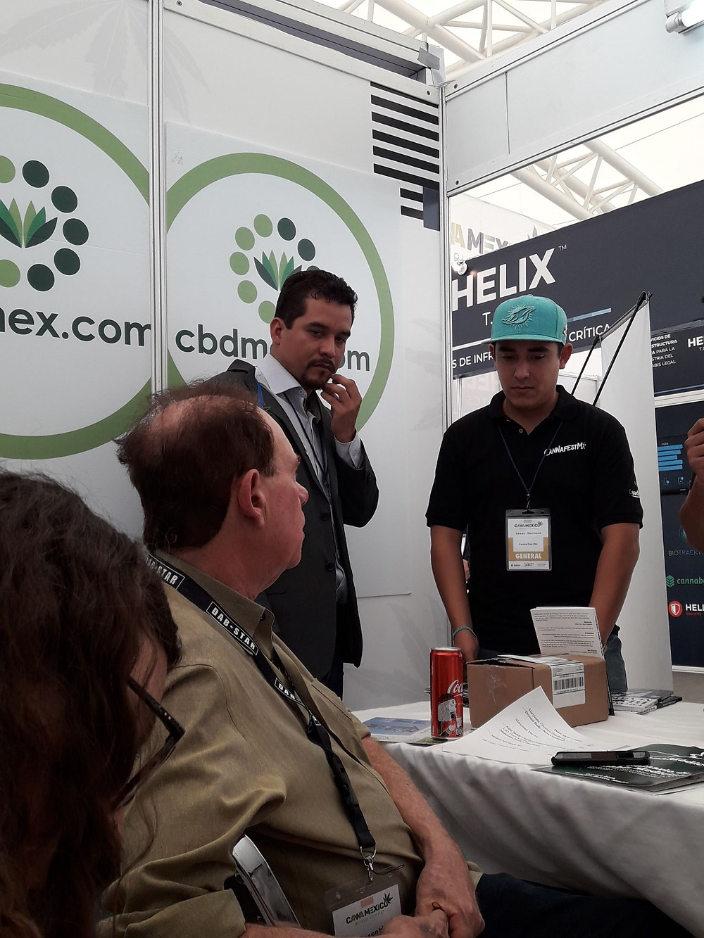 cbdmex booth at cannamex