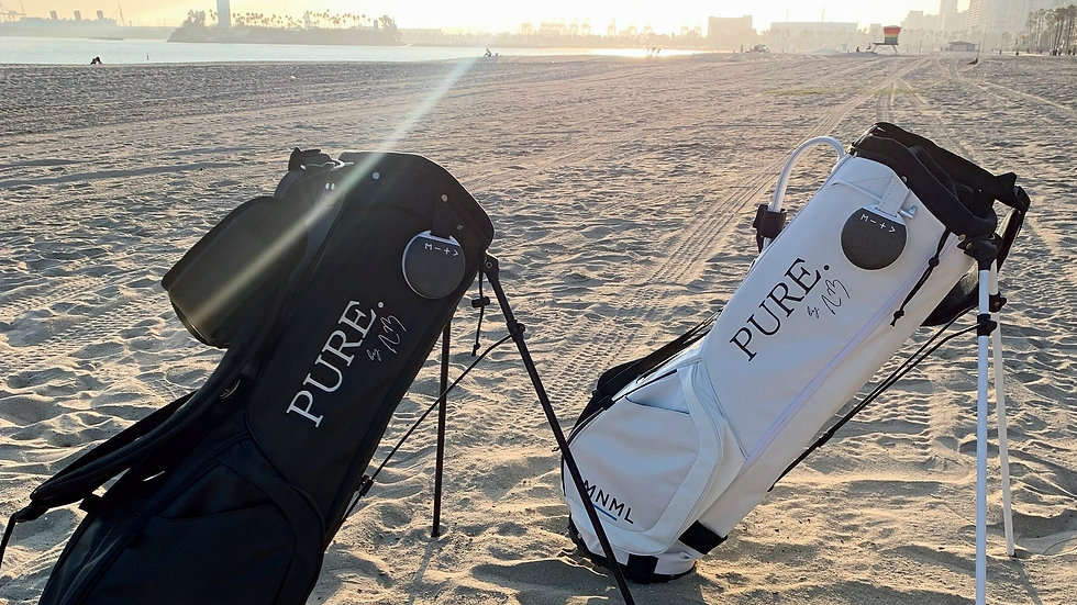 PURE. x MNML Golf Co. Golf Bag