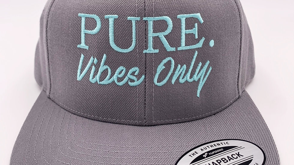 PURE. Vibes Only Flat Brim Snapback