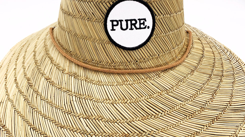 PURE. Patch Straw Hat
