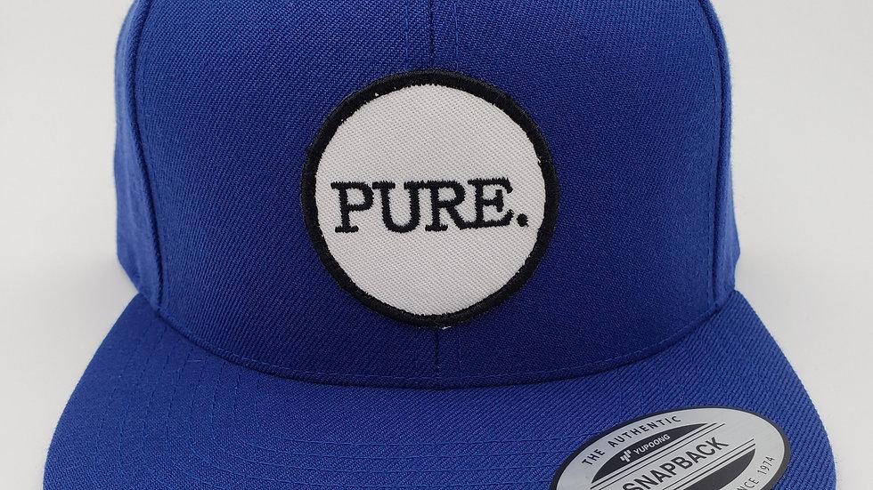 Dodger Blue PURE. Patch Flat Brim Snapback