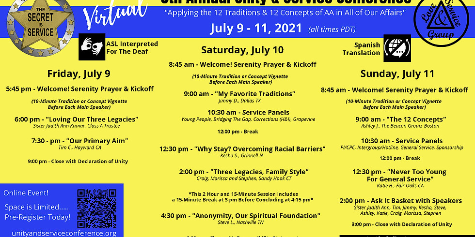 6th Annual Unity & Service Conference