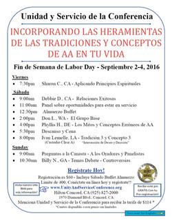 2016 Flyer in Spanish