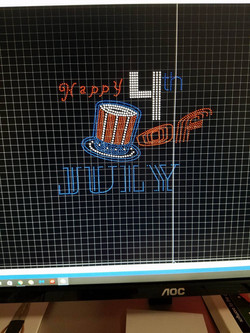 Fourth of July Spangle Design