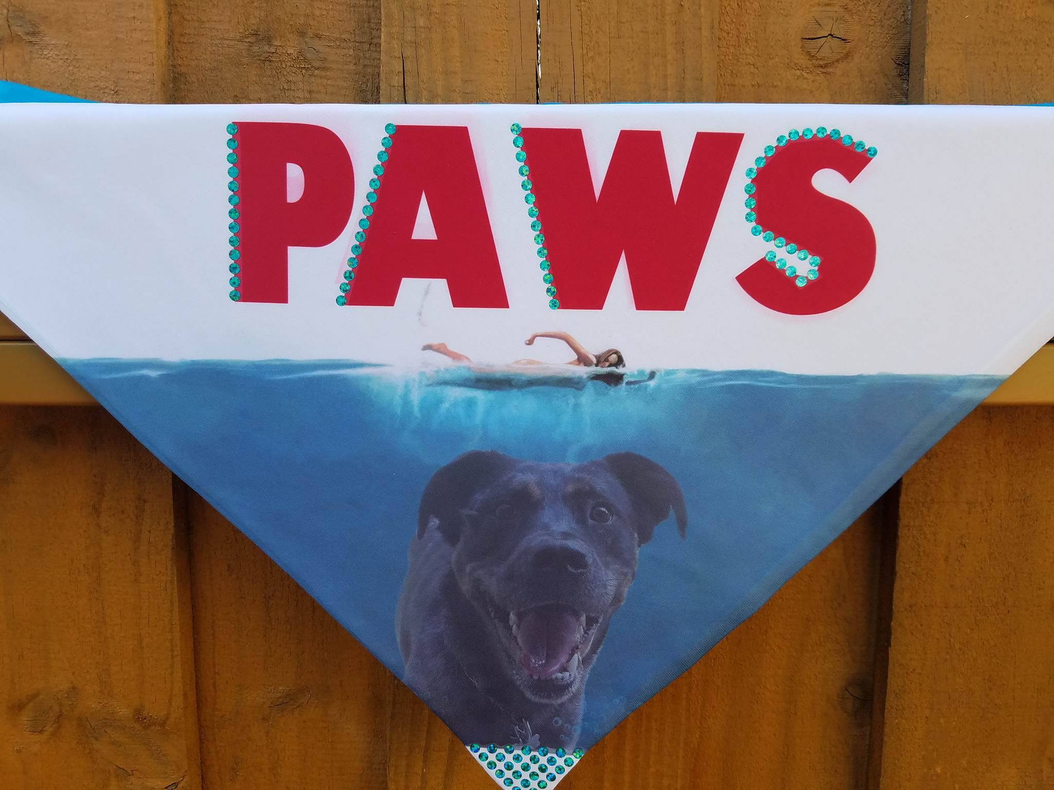 Custom sublimation on polyester bandana for dogs