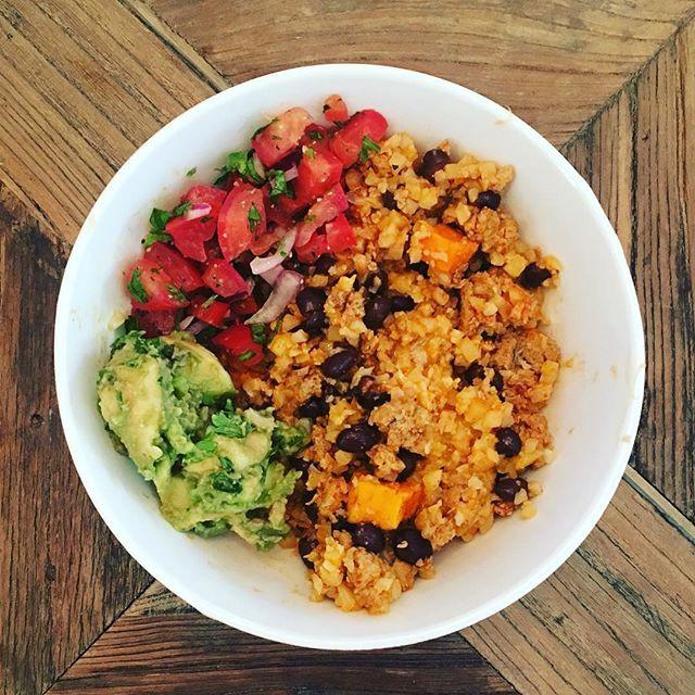 Cauli-Rice & Beans Enchilada Bowl