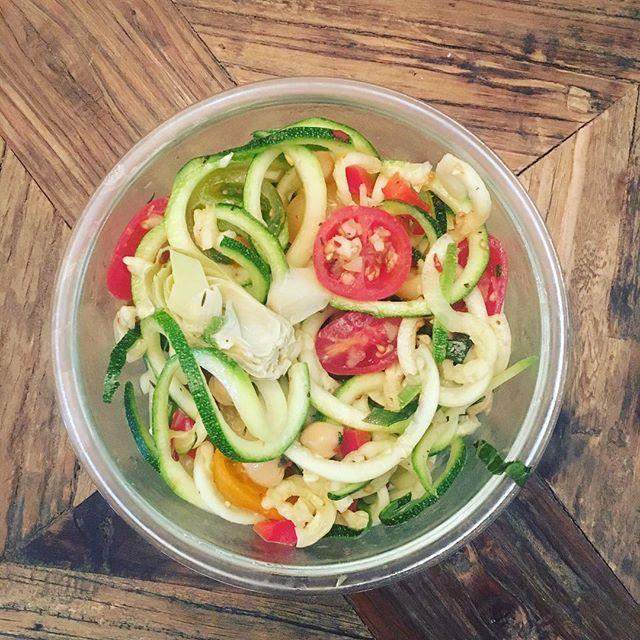 """Greek Zucchini """"Anti Pasta"""" Salad"""