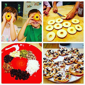 Kids in the kitchen learning healthy habits