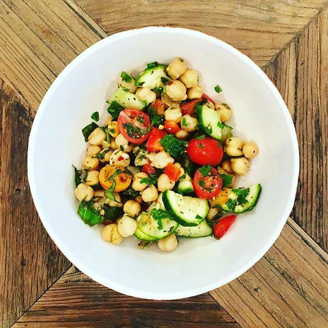 Vegan Veggie Chickpea Salad