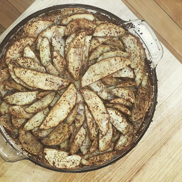 Nut Crusted Apple Tart