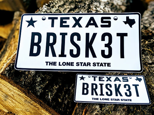 BRISK3T license plate vinyl sticker - 2 sizes