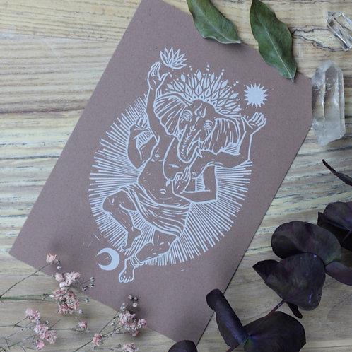 """Kunstdruck """"Ganesha"""" Rosé"""