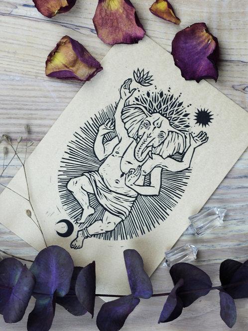 "Kunstdruck ""Ganesha"""
