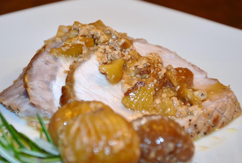 Filetto di maiale con vellutata di castagne