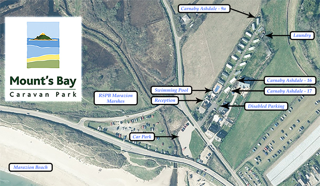 Mount's Bay Caravan Park - Map
