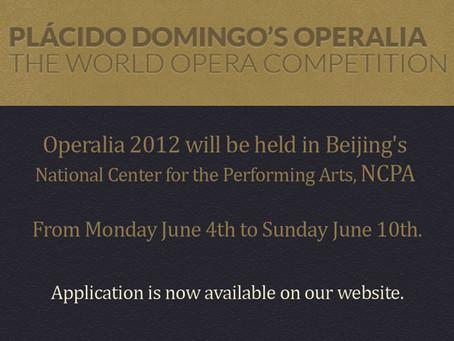 Operalia 2012 Deadline Application.